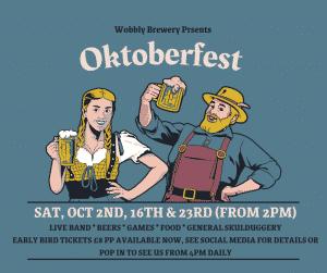 Blue Vintage Illustration Events Oktoberfest Facebook Post